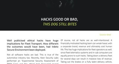 Solution Brief: Hacks Good or Bad, This Dog Still Bites