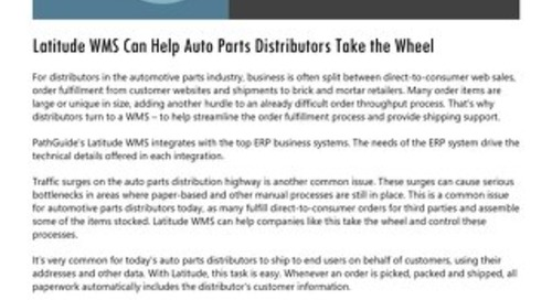 Automotive Parts Distribution