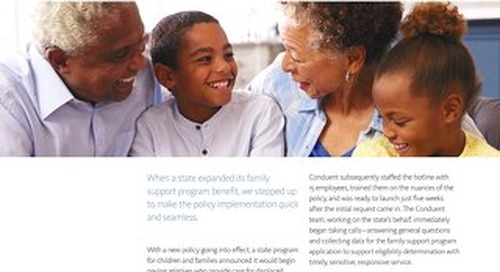 Improvement to Family Support Program's response rate