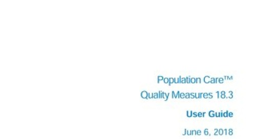 Quality Measures User Guide