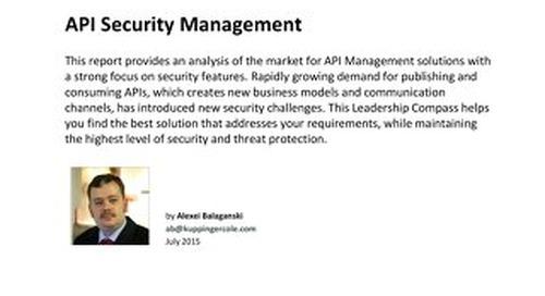 Leadership Compass - API Security Management
