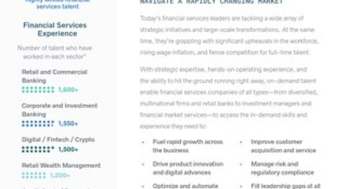 Business Talent Group Key Strengths: Financial Services
