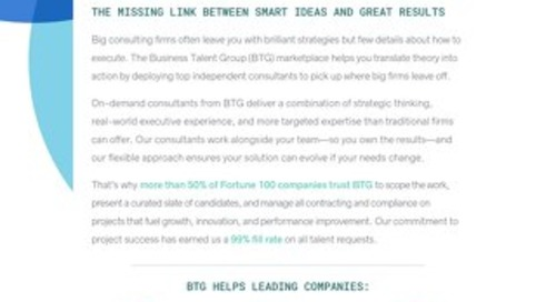 Business Talent Group Key Strengths: Post-Strategy Consulting