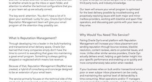 Email Reputation Management