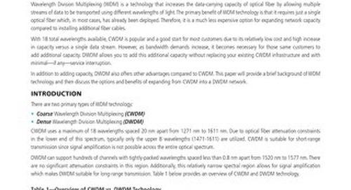 DWDM Expansion over CWDM