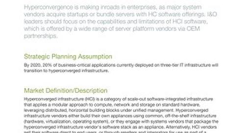 [Report] 2018 Gartner Magic Quadrant for Hyperconverged Infrastructure