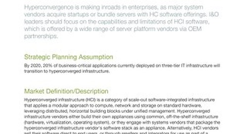 [Report] 2018 Gartner Magic Quadrant for Hyperconverged Infrastructure