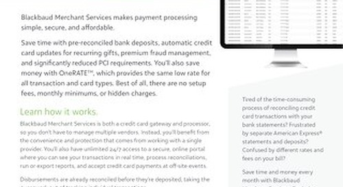 Blackbaud Merchant Services Data Sheet