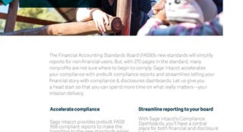 Nonprofit FASB 958 Compliance Dashboards