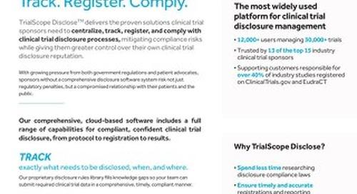 TrialScope Disclose Brochure