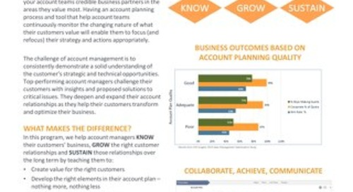 Account Planning and Execution Slipsheet