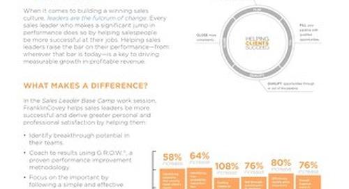 Sales Leadership BaseCamp Slipsheet