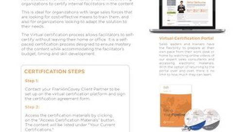 Virtual Certification Slipsheet