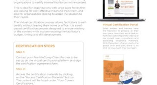 Virtual Certification Slipsheet