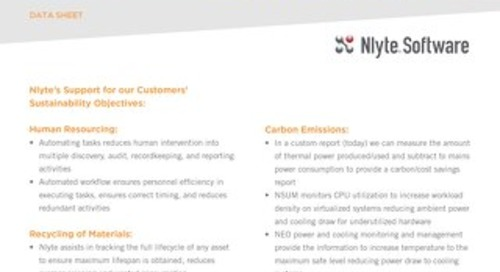 Nlyte Sustainability and Carbon Footprint Statement