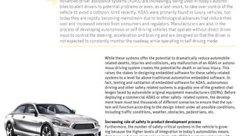 Qualified Code Generation Greatly Reduces Cost of Safety Critical Automotive Software
