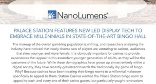 Palace Station Embraces Millennials With LED Display Technology