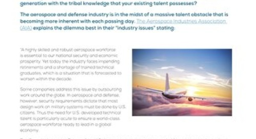 Aerospace Industry Trends Supplementing an Aging Workforce