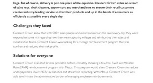 Crescent Crown Gains Strategic Insights by Partnering With Motus