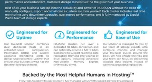 Affordable, Worry-Free SAN Storage with Managed High Availability iSCSI