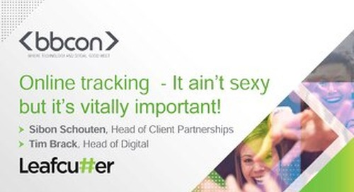 Tracking - It ain't Sexy, But it's Vitally Important! - Sibon Schouten & Tim Brack