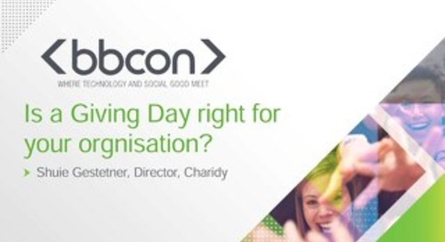 Is a Giving Day Right For Your Organisation? - Shuie Gestetner