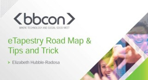 eTapestry™ Roadmap and Tips and Tricks - Lizzi Hubble-Radosa