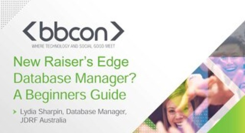 New Raiser's Edge Database Manager? A Beginners Guide - Lydia Sharpin