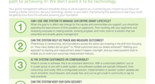 5 Questions to Ask Your Grant Management Technology Vendor