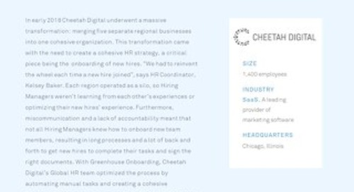 Cheetah Digital Improved Their Global New Hire Experience