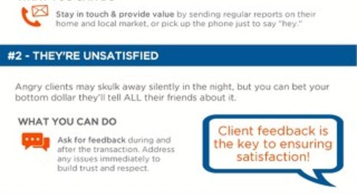 [Infographic] 3 Reasons Clients Leave & How to Prevent It