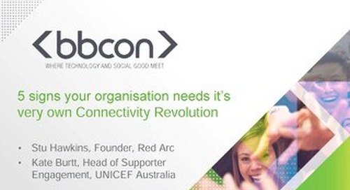 Five Signs Your Organisation is in Need of its Very Own Connectivity Revolution - Stu Hawkins and Kate Burtt