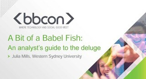 A Bit of a Babel Fish: An Analyst's Guide to the Deluge - Julia Mills