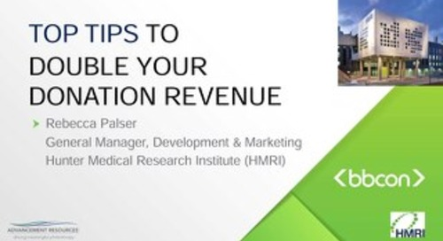 Some Hints For Doubling your Donation Revenue - Rebecca Palser