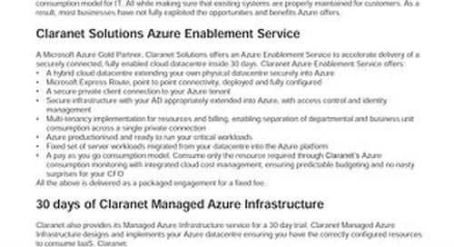 Claranet | Azure Enablement Service