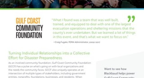Customer Spotlight: Gulf Coast Community Foundation