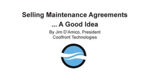 Selling Maintenance Agreements... A Good Idea