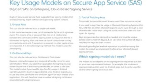 Key Usage Models On Secure App Service (SAS)