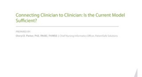 Connecting Clinician to Clinician Whitepaper (Sept 2016)