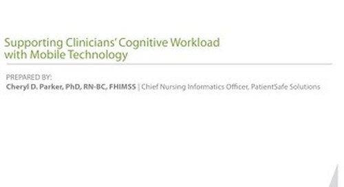 Supporting Clinicians' Cognitive Workload with Mobile Technology Whitepaper (Sept 2016)