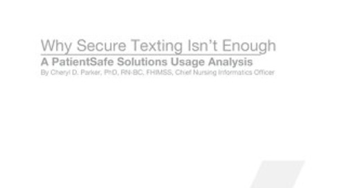 Why Secure Texting Isn't Enough Whitepaper (Mar 2015)