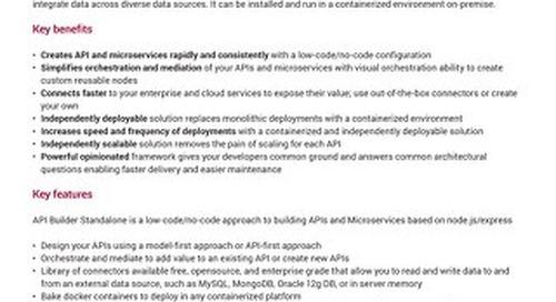 AMPLIFY™ API Builder Standalone