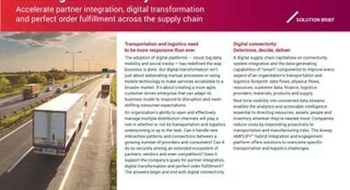 Master Transportation and Logistics Challenges with Axway