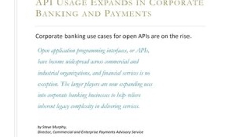 API Usage Expands in Corporate Banking and Payments