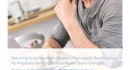 Returning Study Results to Research Participants