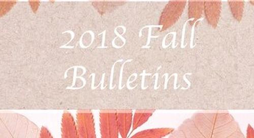 2018 Fall Bulletins