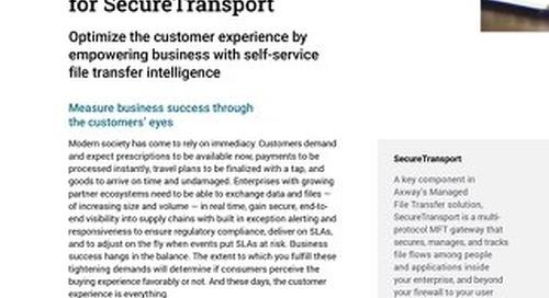 Embedded Analytics for AMPLIFY™ SecureTransport