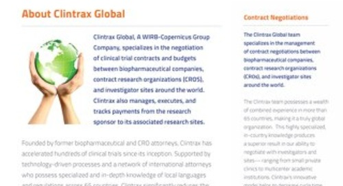 WCG Clintrax One Pager