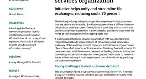 Leading Global Financial Services Organization