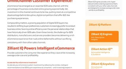 Zilliant IQ for eCommerce: eCommerce Solutions